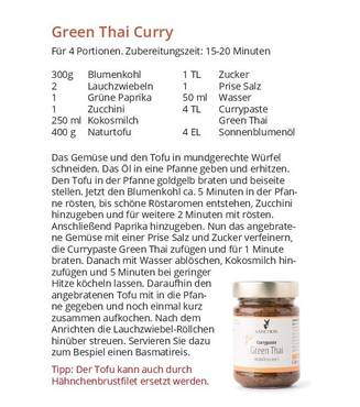 Bio Sanchon Currypaste Green Thai, vegan, 190g