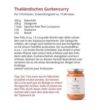 Bio Sanchon Currypaste Red Thai, vegan, 190g
